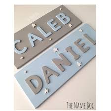 Reverse Plaques For Brothers Caleb Daniel Sky Blue Light Cloud Snow White Nameplaque Woodename Woodensigns Nursery Decor Gifts Door Signs Kids Signs