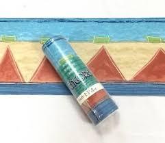 geometric stripe blue tan red triangle