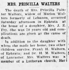 Obituary for PRISCILLA WALTERS (Aged 70) - Newspapers.com