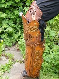 leather leg armor knotwork pattern