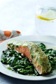 Keto Salmon with Pesto and Spinach ...