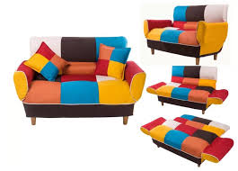 small space colorful sleeper sofa