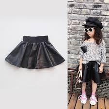 leather skirt girls children