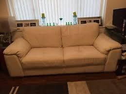 white leather sofa good 3 seater sofa