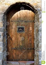 Brick Arch With Wooden Doors Stock Photo Image Of Front Circle 53653272