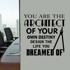 office wall decal architect design your life motivational vinyl