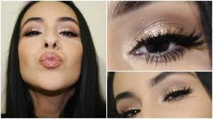 glitter makeup tutorial full face