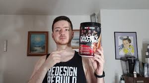 triple chocolate whey protein powder