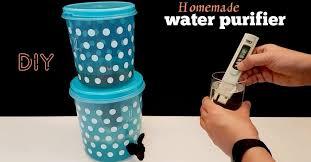 how to make water purifier homemade