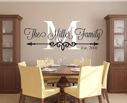 Family Name Wall Decal Personalized Family Monogram Living Room Decor Established Date Vinyl Wall Stickers Living Room Kitchen Vinyl Kitchen Wall Decals