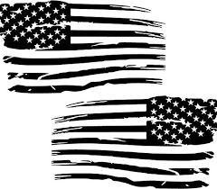 Amazon Com Cartat2s 2 Distressed American Flag Old Glory Military Grunge Patriotic Car Truck Vinyl Decal Hood Wall Window Toolbox Bumper Sticker Big Sizes And Cool Colors 2 5x3 Matte Black Kitchen