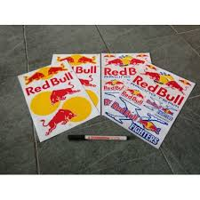 Red Bull Sticker Sheets 10 X 7 Inch 28 Stickers 4 Sheets Free Post Collectibles Webstore Online Auction