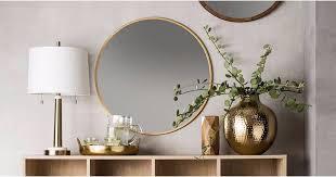 target round mirror popsugar home