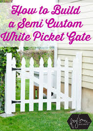 the perfect diy white picket fence gate