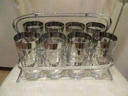 drinking glasses carrier gold wheat