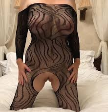 sheer bodystocking. She looked