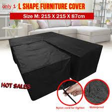 l shape waterproof garden rattan