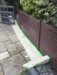 Spraying Faded Upvc Fence Panels Bury Lancashire Fine Finish