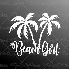 Beach Girl Palm Trees Decal Beach Girl Palm Tree Car Sticker Best Prices