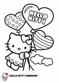 Hk Ballonnen Hart Kleurplaten Hello Kitty Ballonnen