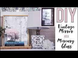 make vintage mirrors or mercury glass