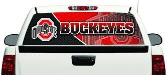 Ohio State Buckeyes Pickup Truck Rear Back Window Graphic See Through Decal Pickup Trucks Buckeyes Ohio State Buckeyes