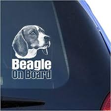 Amazon Com Beagle Clear Vinyl Decal Sticker For Window English Hound Dog Sign Art Print Arts Crafts Sewing