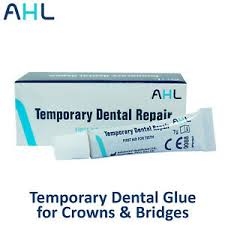temporary dental glue cement for crowns