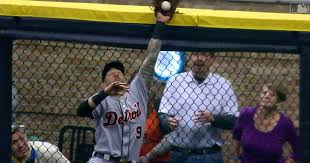 Tigers Of Nick Castellanos Helps Ryan Braun Fly Ball Over The Fence For A Go Ahead Home Run