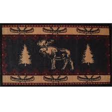 moose fever rustic bathroom rug cabin
