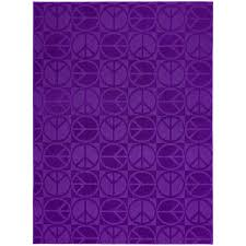 Garland Large Peace 7 X 9 Purple Indoor Solid Kids Area Rug In The Rugs Department At Lowes Com