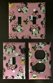 Minnie Mouse Disney Light Switch Cover Plates Outlets Set Of 3 Pink Kids Room Ebay