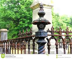 Iron Fence Post At Old Colonial Era Cemetery Stock Photo Image Of Revolutionary Point 120139958