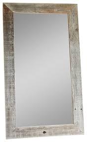 rustic barnwood mirror flat wood