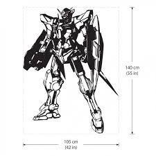 Gn001 Gundam Exia Robot Vinyl Wall Art Decal