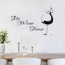Its Wine Time Wall Decal Sticker Vinyl 100x55 Etsy