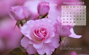 february calendar wallpaper 2018