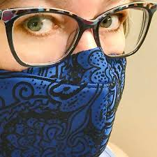 fitted face mask pattern for glasses