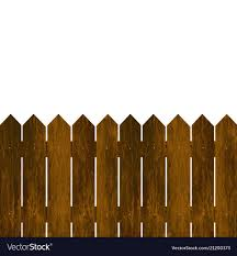 Wooden Fence On A White Background Royalty Free Vector Image