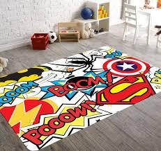 Playroom Rug Girls Rug Kids Room Rug Kids Rugs By Hawkerpeddler Superhero Room Decor Geek Home Decor Kids Playroom Decor