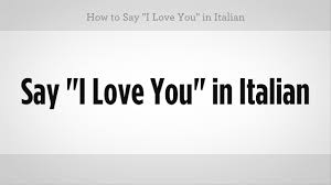 how to say i love you in italian