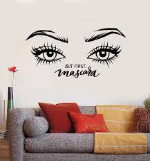 Vinyl Wall Decal Mascara Eyelash Makeup Cosmetics Beauty Eyes Stickers Wallstickers4you