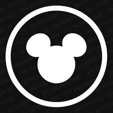 Disney Mickey Head Circle Vinyl Decal The Stickermart