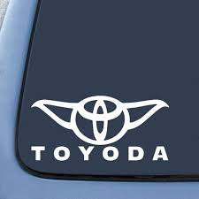 Amazon Com Bargain Max Toyoda Yoda Sticker Decal Notebook Car Laptop 8 White Automotive Tacoma Bumper Bumper Stickers Vinyl Decals