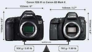 canon 5ds r vs canon 6d mark ii
