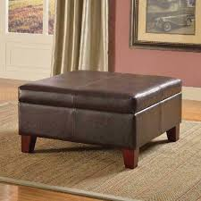 chocolate brown faux leather foam wood