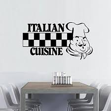Amazon Com A Top Decals Vintage Decal Italian Cuisine With Chef Wall Decal Retro Decal Kitchen Decal Home Decor Kitchen Decor Dining Room Decal Vintage Decor Chef Home Kitchen