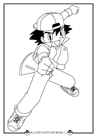Ash Kleurplaten Gratis Printen Kleurplaat Pokemon