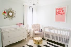 pink and green nursery design
