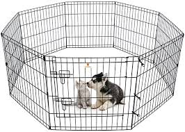 Amazon Com Peekaboo Dog Pen Pet Playpen Dog Fence Indoor Foldable Metal Wire Exercise Pen Puppy Play Yard Pet Enclosure Outdoor For Small Dogs Kittens Rabbits 8 Panels 24 Pet Supplies